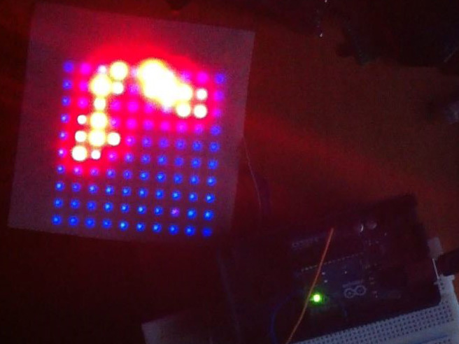 DIY 10x10 WS2812 RGB LED Matrix